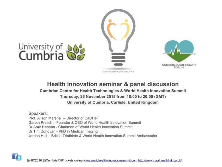 Health innovation seminar November 2015